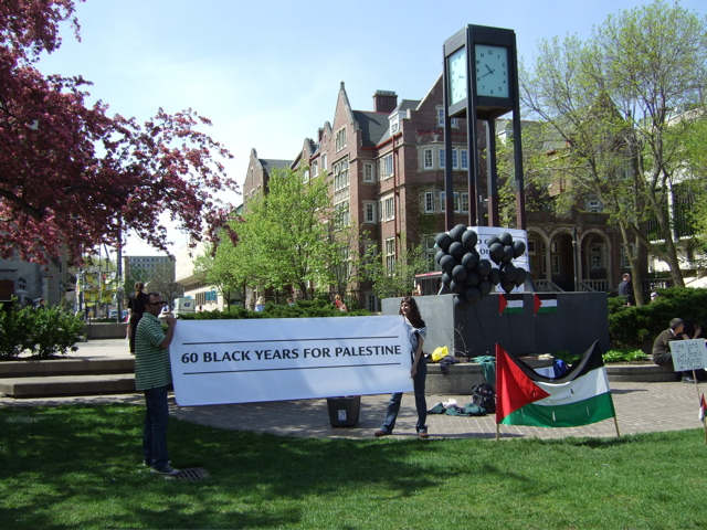 UW-Madison demonstration on the 60th birthday of Israel