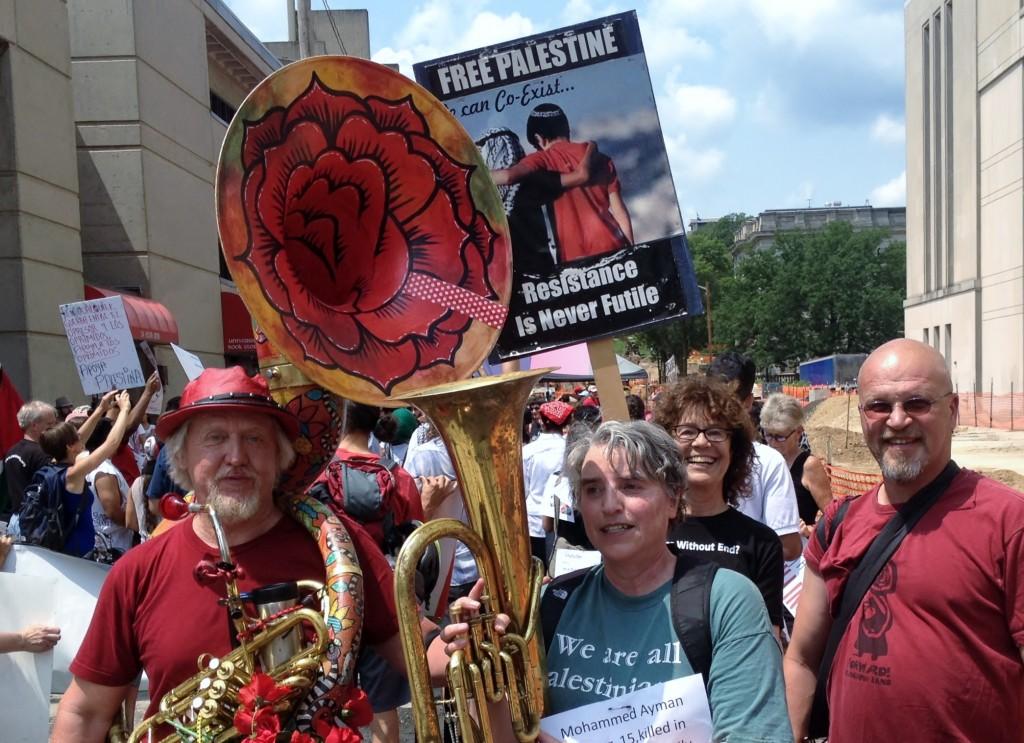 Madison Gaza Protest, July 19, 2014