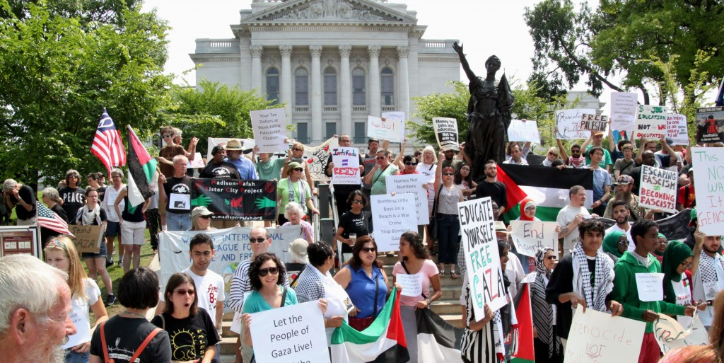Madison Gaza Protest, July 19, 2014