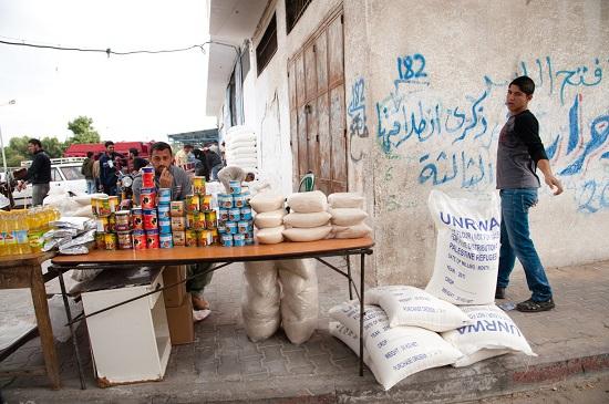 UWNRWA aid in Gaza