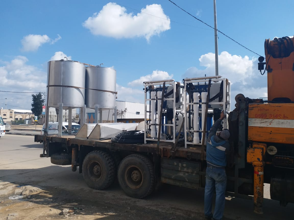 Tank & Filter Unit Delivery