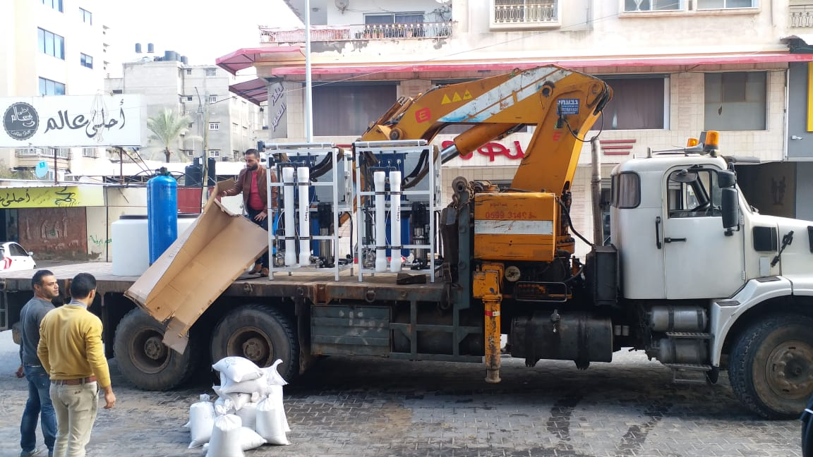 Truck Carrying Water Purification Units